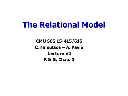 1 Translation of ER-diagram into Relational Schema Prof