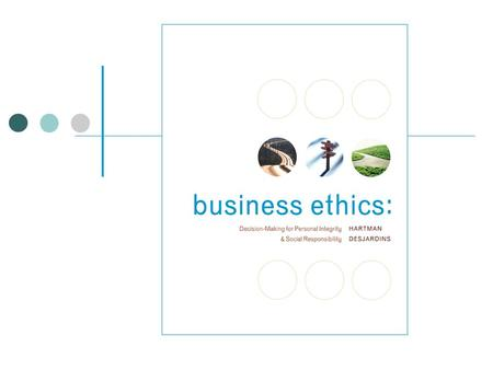 Ethical Decision-Making: Personal and Professional