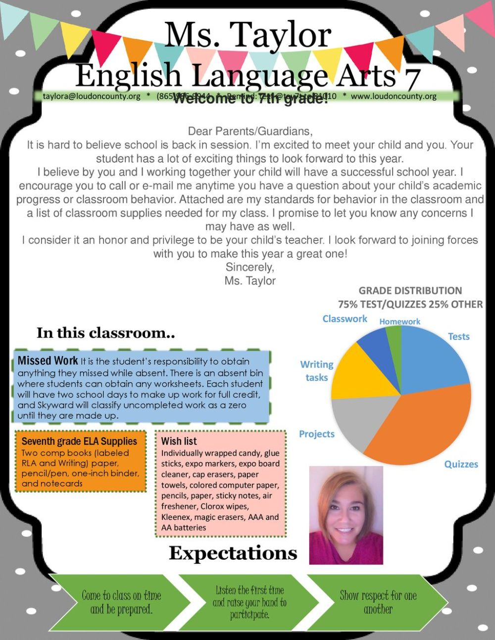 medium resolution of Ms. Taylor English Language Arts 7 Expectations Welcome to 7th grade! - ppt  download