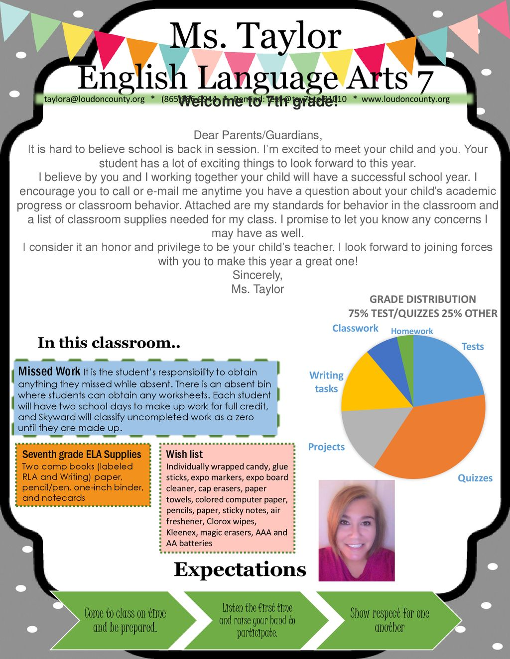 hight resolution of Ms. Taylor English Language Arts 7 Expectations Welcome to 7th grade! - ppt  download