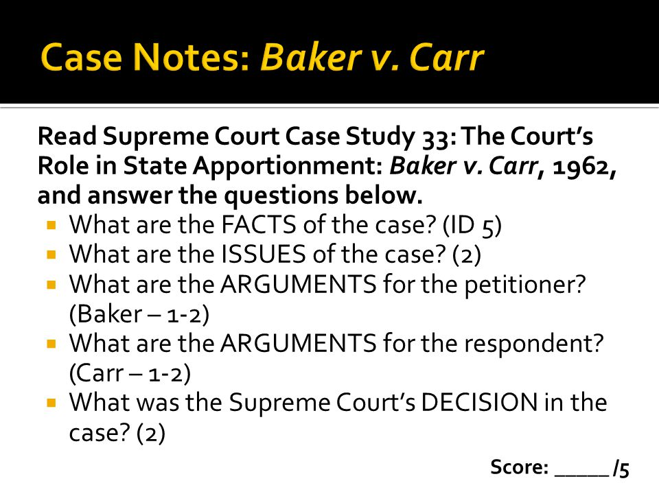 Supreme court case study 1 answers