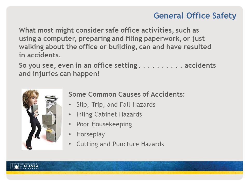 OFFICE SAFETY UAF EHSRM  ppt video online download