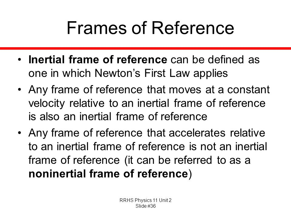 Imágenes de Define Frame Of Reference In Physics