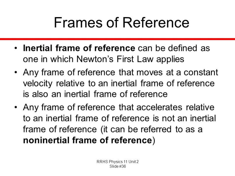Inertial Frame Of Reference Physics Definition | Framess.co