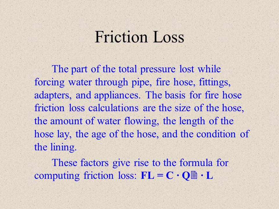 Fire Hose Friction Loss Formula - Acpfoto