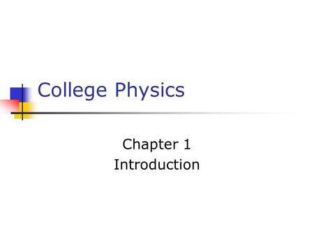 Chapter 1: Introduction Physics. Opening Activity: Write