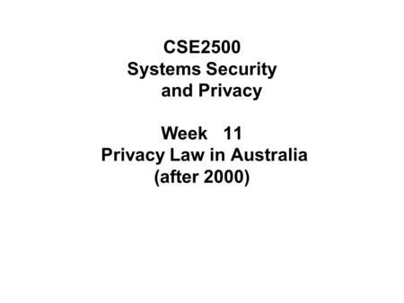 The role of the Office of the Privacy Commissioner in