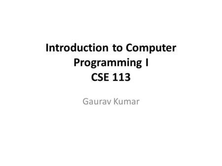 Concept of Computer Programming November 2, ppt download