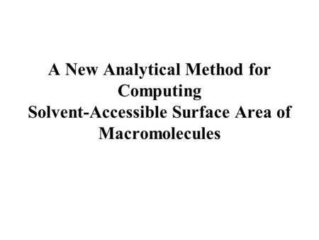 Lecture 12: Solvation Models: Molecular Mechanics Modeling