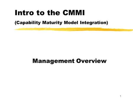 Implementing CMMI® for Development Version ppt download