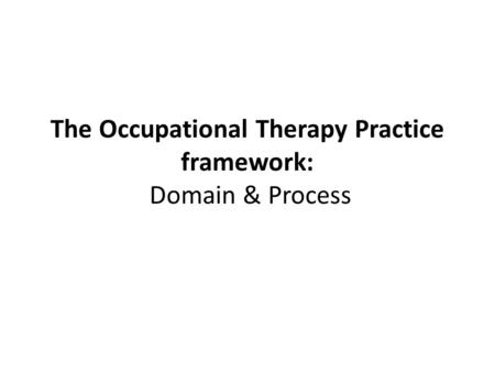 RHS 303. TRANSITION OF THEORY AND TREATMENT nature of