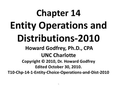 Chapter 11-1C. S Corporations C16-Chp-11-1C-SCorp-Passthru