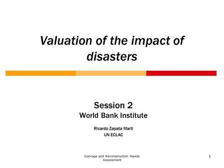 Session 1 World Bank Institute Ricardo Zapata Marti UN