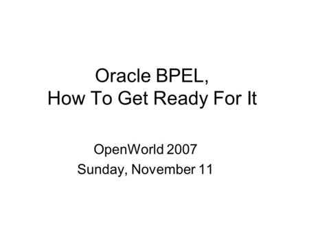Oracle Fusion Middleware Upgrade: Best Practices