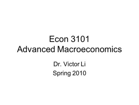 Economic Complexity and Econometric Simplicity Prof. Ping
