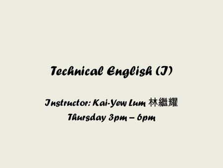1 作業系統 Operating System Instructor