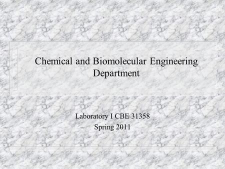 Course description Course: Chemical and Biomolecular