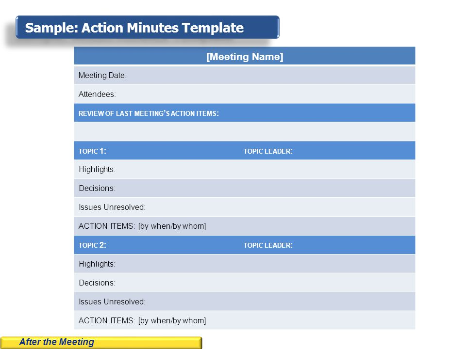 Meeting Minutes Sample Style