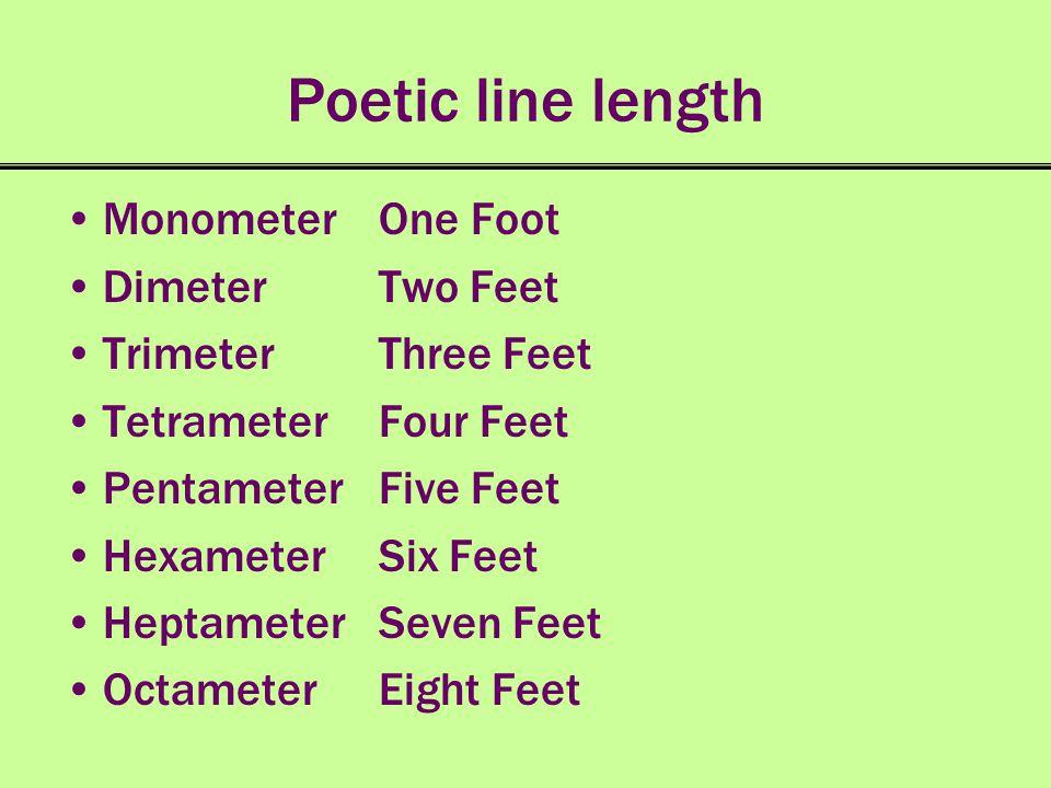 Poetic Meter Iamb Iambic ̌ ʹ Trochee Trochaic ʹ ̌