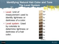 natural hair color level 5 milady standard cosmetology ppt ...