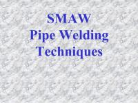 SMAW Welding Techniques - ppt video online download