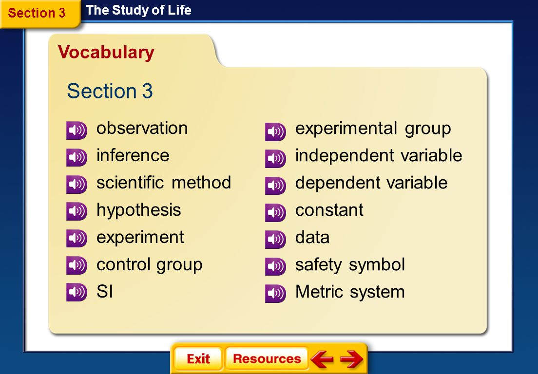 The Study Of Life Section 1 Introduction To Biology