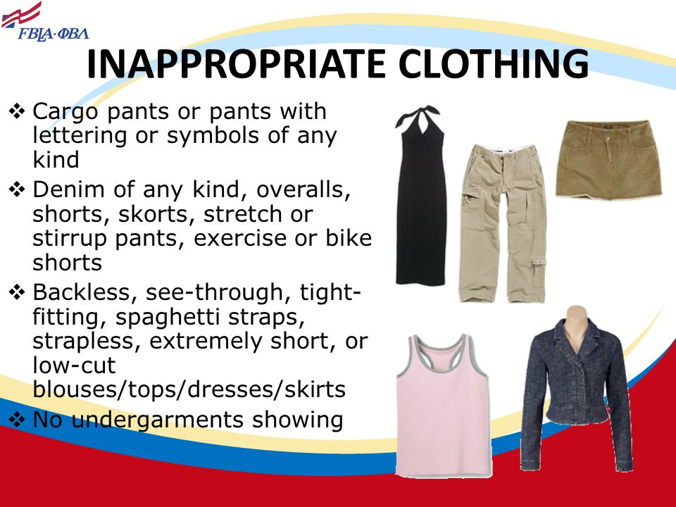 No Inappropriate Clothing