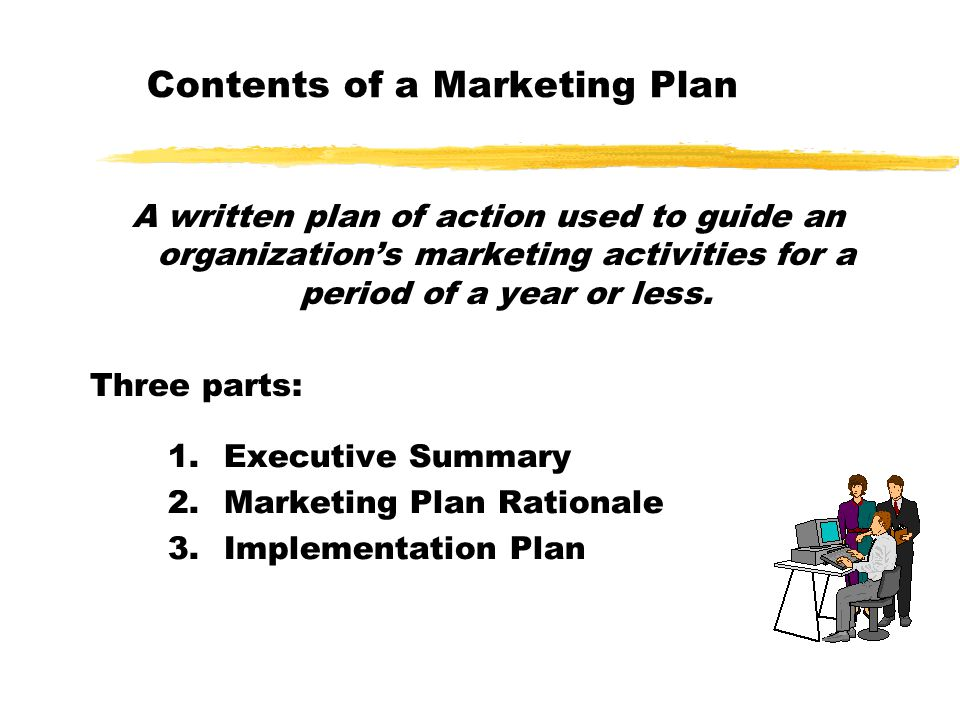 Learning Objectives Chapter 9: The Marketing Plan and the