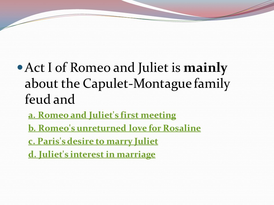 Romeo And Juliet Review Ppt Video Online Download