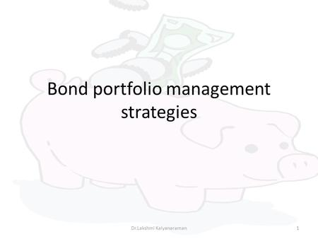Chapter 19 FIXED-INCOME PORTFOLIO MANAGEMENT. Chapter 19