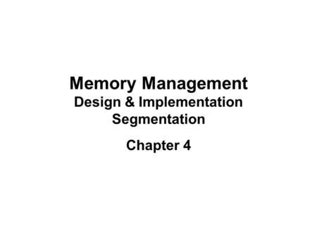 ICOM Noack Memory management Virtual memory Paging and