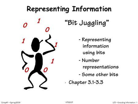 L03 – Encoding Information 1 Comp411