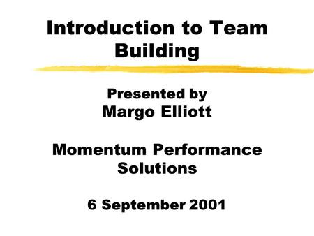 Team Building Insight on Team Building in Health Care