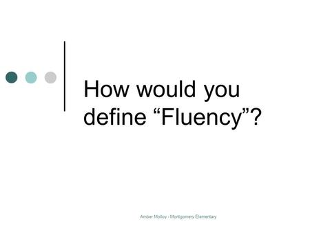 Fluency Builders Reading For all Learners Written By: Dr