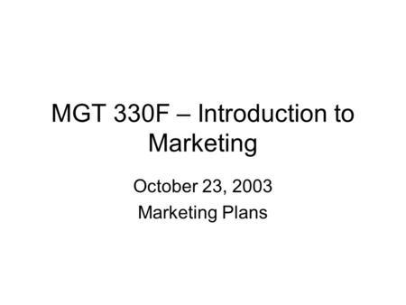 MARKETING PLAN 1)Executive summary 2)Current Marketing