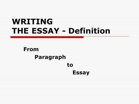 Sample BODY DEVELOPMENT. TITLE Title: Topic of the Essay