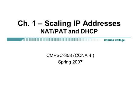 IPv6 NAP: There is no need for NAT in IPv6 Note: Based on
