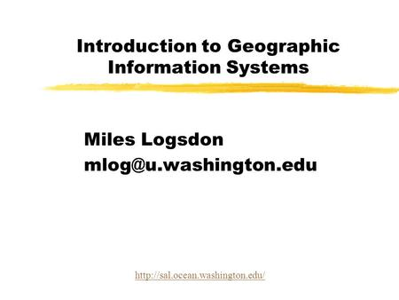 Introduction to Spatial Information Technologies in the