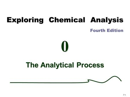 ANALYTICAL CHEMISTRY Analytical chemistry is branch of