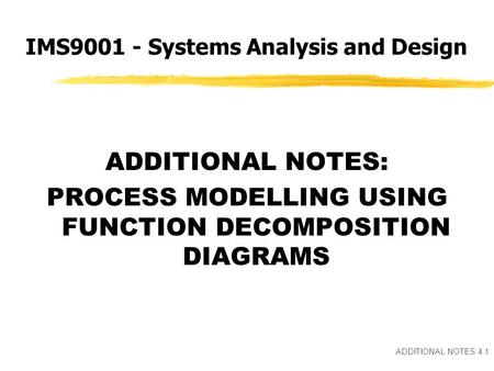 3.1 Topic 3 MODELLING IN INFORMATION SYSTEMS DEVELOPMENT