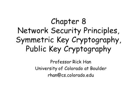 Introduction to Symmetric Block Cipher Jing Deng Based on