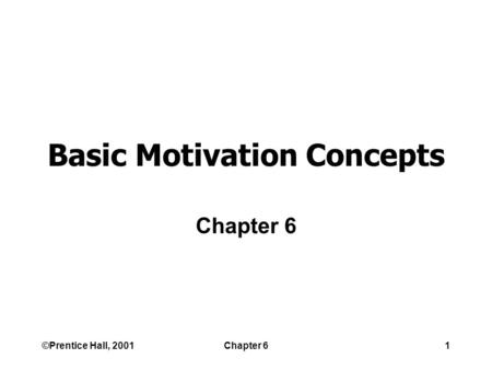 Chapter 12 Motivation. Learning Objectives After reading