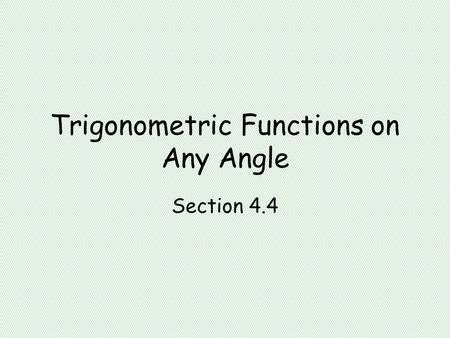 Inverse Hyperbolic Functions. The Inverse Hyperbolic Sine