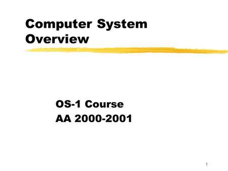 Overview von Neumann Architecture Computer component