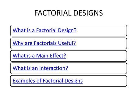 Factorial Design Main Effect - Desain Terbaru Rumah Modern