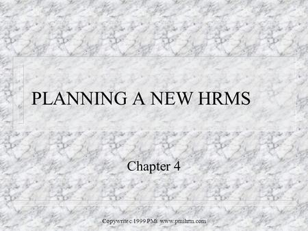 Copywrite C 1999 PMi RETURN ON INVESTMENT Chapter ppt download