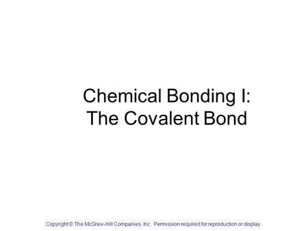Chemical Bonding II: Molecular Geometry and Hybridization