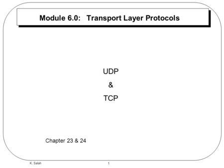 Chapter 14 User Datagram Protocol (UDP) Introduction