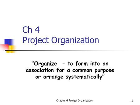 Structure of project. The internal and external project