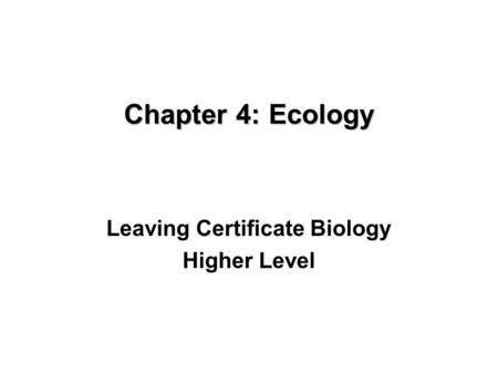 Ecology. 2 Objectives 1.To study new vocabulary associated